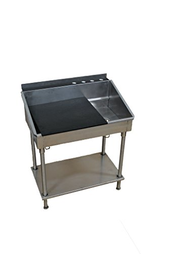 Best Utility Sinks Utility Sink with Removable Counter Top and (22 x 24'')Adjustable Shelf, 36 x 22 x 42'', Stainless Steel by Best Music Posters