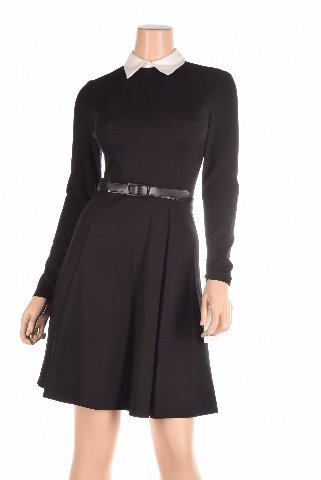 Buy belted knit ponte dress - 9