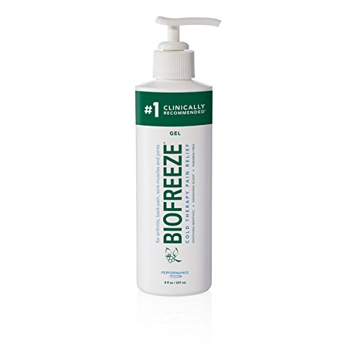 Biofreeze Pain Reliever Gel for Muscle, Joint, Arthritis, Back Pain, Cooling Topical Analgesic, NSAID Free Pain Relief Works Like Ice Pack, 8 oz Bottle with Pump (Limited Edition)