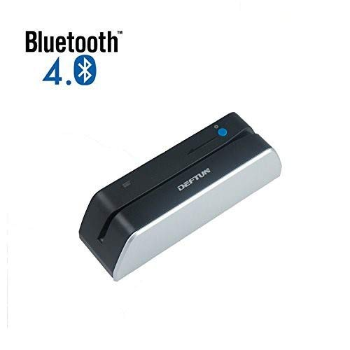 Deftun MSR X6(BT) Bluetooth Magstripe Credit Card Reader Writer Encoder Stripe MSRX6BT MSR206 (Best Credit Card Reader Writer)