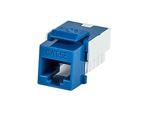 Monoprice Slim Cat5E Punch Down Keystone Jack, Blue (110042) -