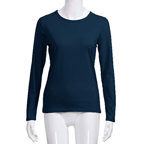 Manches Longues Bleu Chemisier Femme Winkey Marine nq0wAC1a