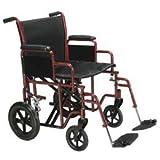 """Heavy-Duty Transport Chair Transport Chair - 20""""W Seat - Model 562060"""