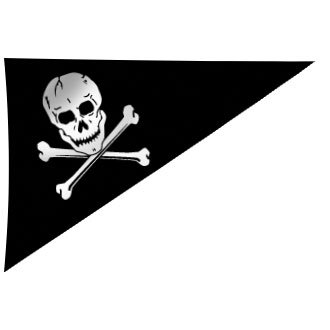 Pennant Flags Pirate (Pirate Flag 10X15 Inch Nylon)