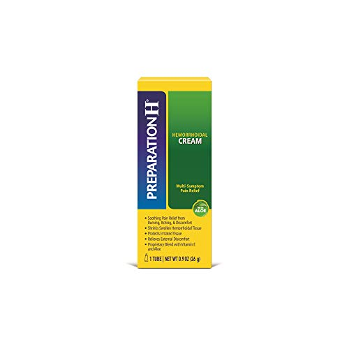 Image of Preparation H Hemorrhoid Symptom Treatment Cream (0.9 Ounce Tube), Maximum Strength