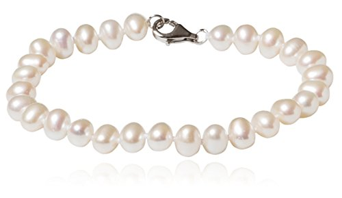 SilverLuxe Sterling Silver Genuine Freshwater Pearl 5-6mm 7 1/2