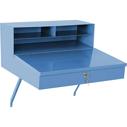 Steel Wall Mounted Sloped Receiving Desk, 24