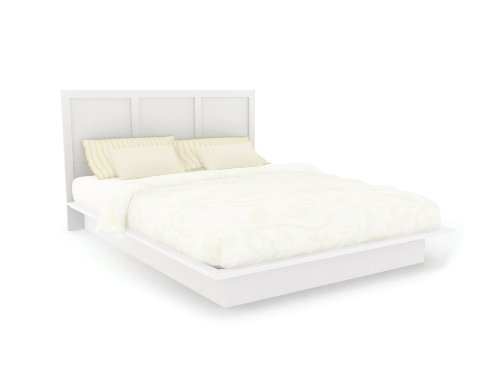 Sonax H-112-LPB Plateau Queen/Double Platform Headboard in Frost White (Plateau Bed Platform)