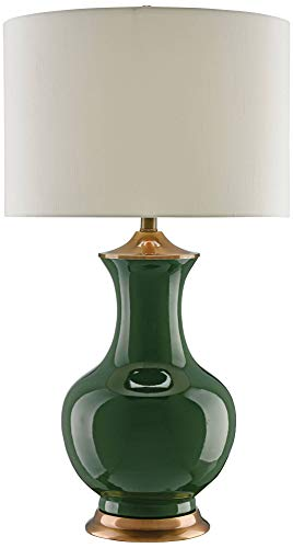 (Currey and Company Lilou Green Ceramic Table Lamp)