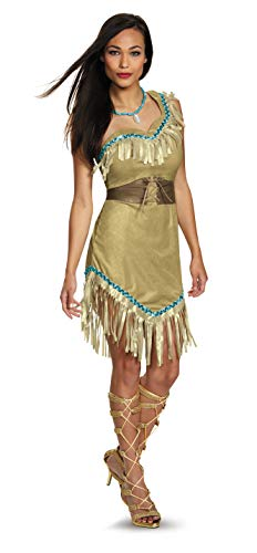 Halloween Costumes Pocahontas And John Smith (Disguise Women's Pocahontas Deluxe Adult Costume, Multi,)
