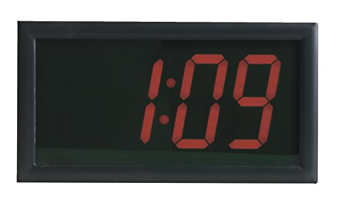 School Smart LED Clock with Remote Control, High Visibility, 7 x 13 Inches