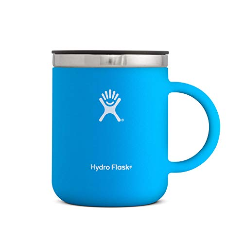 Hydro Flask 12 oz Coffee Flask | Stainless Steel & Vacuum Insulated | Press-In Lid | Pacific ()