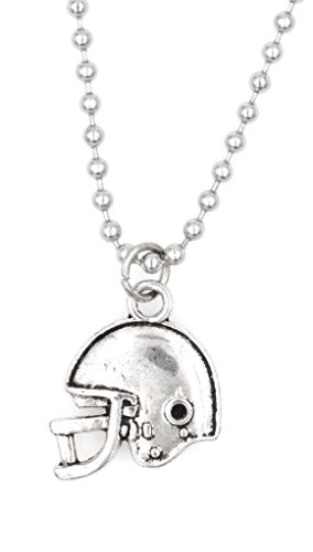 "! 21.6"" 2.4mm Stainless Steel Ball Chain Necklace Football Helmet 31N ()"