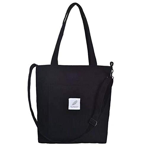 Tote Bag for Women - WantGor Upgrade Crossbody Shoulder Handbags Big Capacity Shopping Bag (Black)