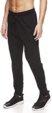 Reebok Men's Jogger Running Pants with Pockets - Athletic Workout Training & Gym Sw