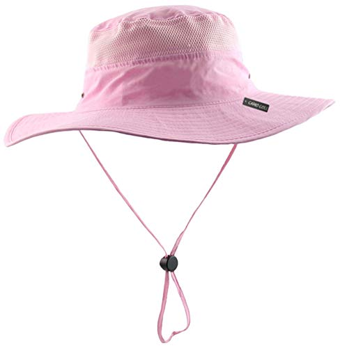 - Camo Coll Outdoor Sun Cap Camouflage Bucket Mesh Boonie Hat (Pink, One Size)