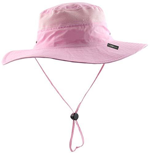 Camo Coll Outdoor Sun Cap Camouflage Bucket Mesh Boonie Hat (Pink, One Size) (Ladies Man Wig)