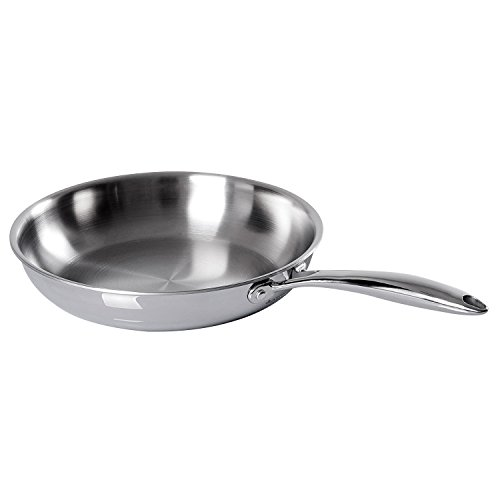 Duxtop Whole-Clad Tri-Ply Stainless Steel Induction Ready Premium Cookware Fry Pans 10-Inch ()
