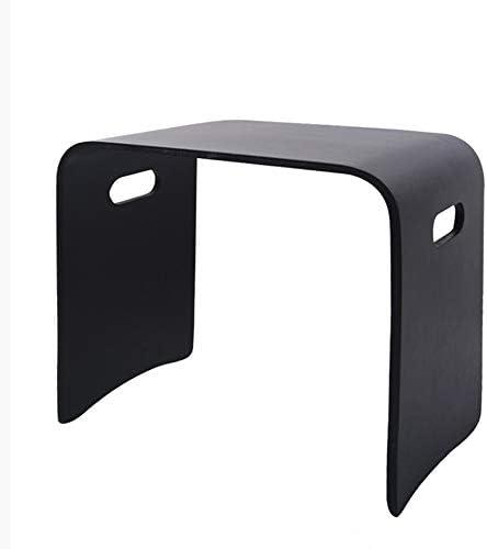 GWDJ サイドテーブル、ソリッドウッド製スモールスクエアスツール、家庭用テーブルスツール、安定したベッドサイドテーブル、ベンチ、ネストテーブル、寝室用リビングルーム4色、3サイズ コーナーテーブル (色 : 黒, サイズ さいず : 43×31×40cm)