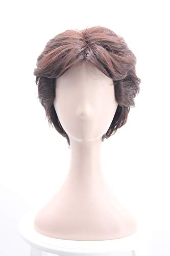 Man's Short Brown Cosplay Wig for Move Fiber Hair Wig
