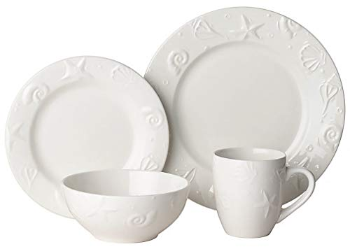 - Thomson Pottery 16pc Embossed Shell Dinnerware Set One Size