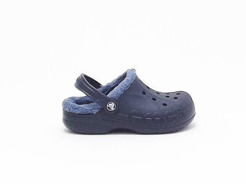 Crocs Sabot baya lined kids Crocband colore blu