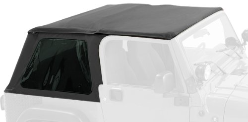 Pavement Ends by Bestop 56840-15 Black Denim Frameless Sprint Top for 1997-2006 Jeep Wrangler ()