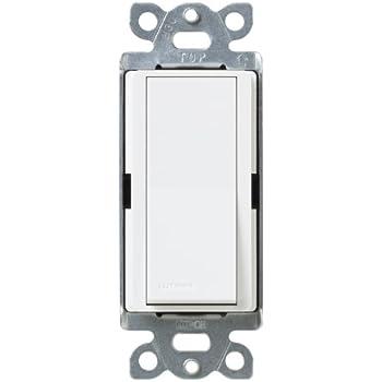 Lutron SC-1PS-SW Diva 15-Amp 120-to-277-Volt Single-Pole Switch, Snow