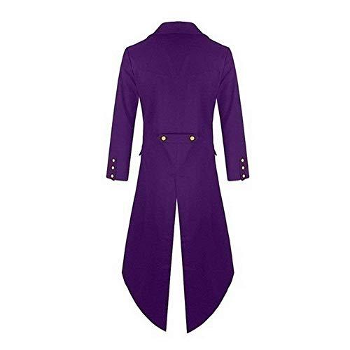 Vintage Gothic Steampunk Chaqueta Tuxedo Uniform Cómodo Cosplay De Victoriana Jacket Punto Battercake Chaqueta Lila Long Coat zxnYwYX