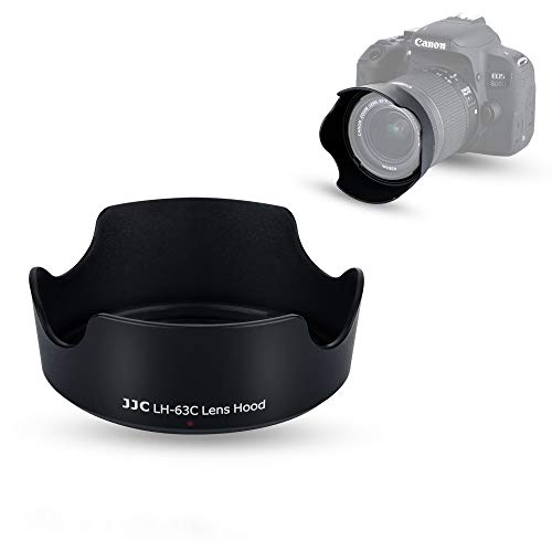 JJC EW-63C Dedicated Reversible Lens Hood Shade for Canon EOS Rebel T7i T6i T5i SL3 SL2 90D 80D 70D 77D Camera with Kit Lens Canon EF-S 18-55mm f/3.5-5.6 is STM or Canon EF-S 18-55mm f/4-5.6 is STM