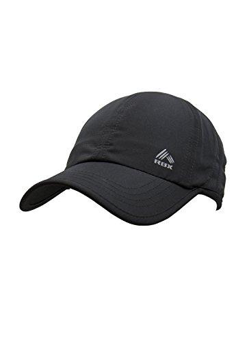 RBX Women's Mesh Panel Runner's Baseball Cap, Adjustable, Black, One Size