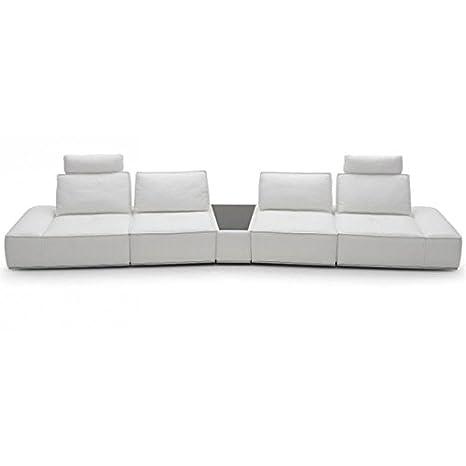 Amazon Com Vig Orchid Divani Casa Contemporary White Leather