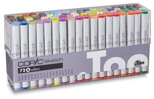 COPIC SKETCH 72PC SET A Drafting, Engineering, Art (General Catalog) by Copic