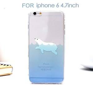 Tpu Material Transparent Sea Animals Penguin Polar Bear Design Cartoon Phone Case For Apple Iphone 6 (4.7Inch) 6 Plus Covers 47 One White Bear-47 one white Bear