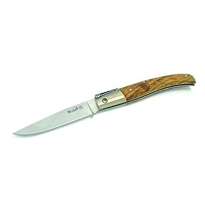Couteau Pliant billet Muela série PQ PQ-9.OL poignée d'olive et alpaca férule 105 grammes carte cadeau multi-feuille de 10 cm +