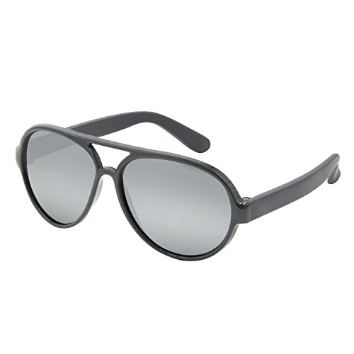 Carter's Baby Boys 100% UVA/UVB Protected Sunglasses, Aviator Design/Grey, 0-48 Months ()