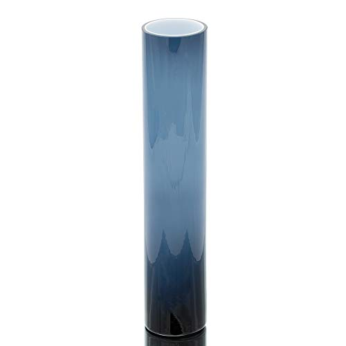 Richland Corine Cylinder Vase Tall Colored Glass Navy Blue -