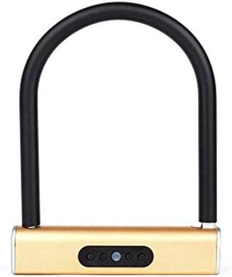 電子ドアロック スマートキーレスU型ロックキーボードパスワードロックバッテリーはアンロックドアロックを運営しました スーツケース荷物 家のドア 窓ドア 自転車 (色 : Gold, Size : One size)
