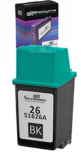 Speedy Inks Remanufactured Ink Cartridge Replacement for HP 26 | 51626A (Black)