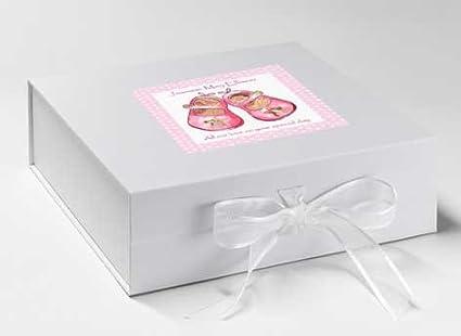 Caja de recuerdos para bebé, Memory Box, caja de zapatos, Memory Box Rosa, bebé regalo, bebé ducha regalos: Amazon.es: Hogar