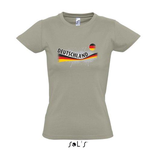 Fanshirt-Damen DEUTSCHLAND, Germany Ländershirt EM / WM Trikot S-XXL , Khaki , S