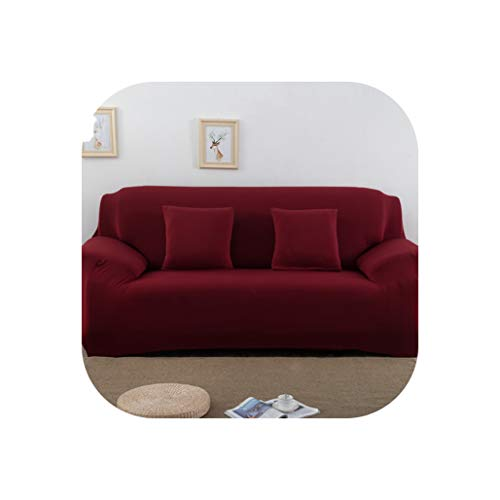 Solid Color Elastic Sofa Cover Spandex Modern Polyester Corner Sofa Couch Slipcover Chair Protector Living Room 1/2/3/4 Seater,Color 20,4-Seat 235-300Cm