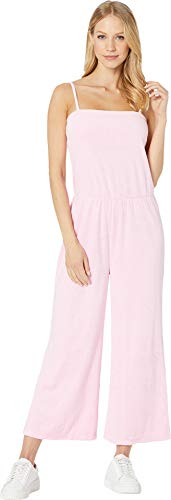 Juicy Couture Women's Microterry Tank Jumpsuit Bikini Pink Petite/X-Small