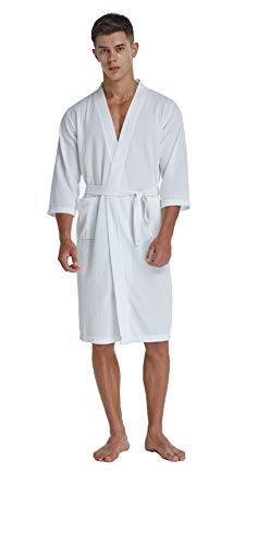 f7bc4aef8c TIMSOPHIA Soft Kimono Waffle Robes for Men