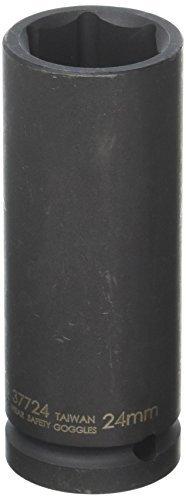 Williams 37724 1/2-Inch Drive Deep Impact Socket 6 Point 24mm [並行輸入品] B078XLVR32