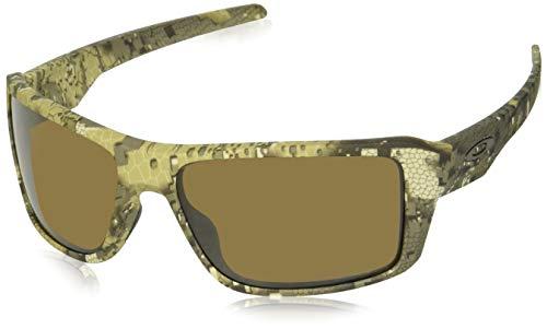 Oakley Men's OO9380 Double Edge Rectangular Sunglasses, Desolve Bare Camo/Prizm Bronze Polarized, 66 ()