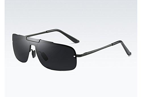 Sol Calidad Gris gray la UV400 Gafas de Hombres Gris polarizadas black para de con Gafas Sol TL Sunglasses Hombre Degradado Alta wZq8T8