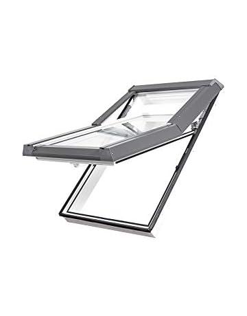 Dachfenster Fakro Schwingfenster 78x118cm Kunststoff mit Dauerl/üftung V35 Standardverglasung U3 mit Eindeckrahmen f/ür Schindeln oder Schiefer