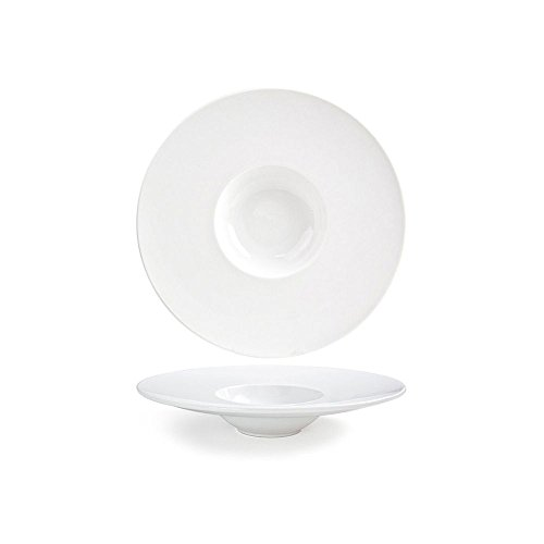 "Front of the House DBO053WHP22 Monaco Bowl, 11.5"" Diameter, 2.25"" Height, 7 oz, Porcelain (Pack of 6)"