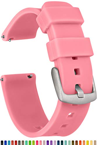 GadgetWraps 20mm Gizmo Watch Silicone Watch Band Strap with Quick Release Pins - Compatible with Gizmo Watch, Amazfit, Samsung, Pebble - 20mm Quick Release Watch Band (Pink Glow, 20mm)